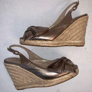 VALENTINO Bow Espadrille Wedge Sandals